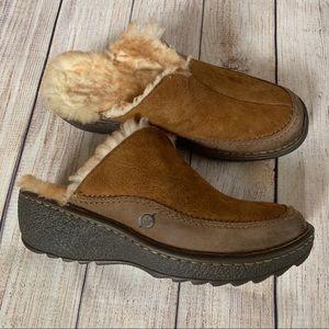 Born Fur Lined Mules/Clogs